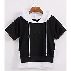 billige Hættetrøjer og sweatshirts til drenge-Børn Drenge Farveblok Kortærmet Hættetrøje og sweatshirt