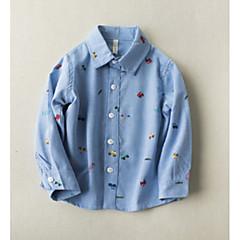 baratos Roupas de Meninos-Infantil Para Meninos Estampado Manga Longa Camisa