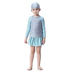 billige Badetøj til drenge-Børn Pige Aktiv Sport / Strand Patchwork Nylon / Spandex Badetøj Navyblå 140 / Sødt