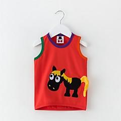 billige Babyoverdele-Baby Unisex Aktiv Trykt mønster Uden ærmer Bomuld / Polyester Bluse Grøn
