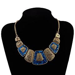 billige Halsbånd-Dame Kort halskæde  -  Vintage / Europæisk Geometrisk form Sort / Rød / Blå 45cm Halskæder Til Fest / aften / Aftenselskab