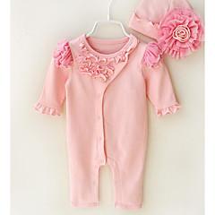 billige Babytøj-Baby Unisex Basale Ensfarvet Kort Ærme Overall og jumpsuit
