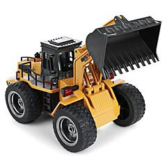 abordables -Coche de radiocontrol  1520 6 Canales 2.4G Excavadora 1:18 Brush Eléctrico 60 km/h