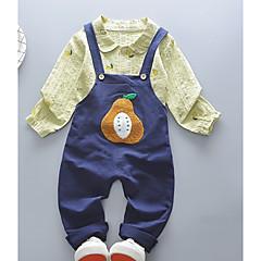 billige Tøjsæt til piger-Børn Unisex Patchwork / Frugt Langærmet Tøjsæt