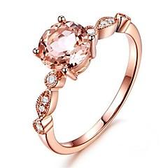billige Motering-Syntetisk Diamant Gjennomsiktig Forlovelsesring - Kobber Ball Asiatisk, Ferie 6 / 7 / 8 / 9 / 10 Lysebrun Til Seremoni Bursdag
