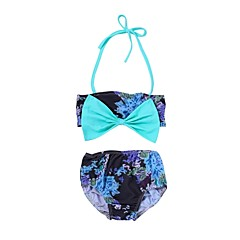 billige Babytøj-Baby / Spædbarn Pige Strand Trykt mønster Polyester / Spandex Badetøj Grøn 90