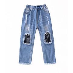 billige Bukser og leggings til piger-Børn Pige Aktiv Patchwork Net / Patchwork Bomuld Jeans