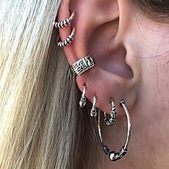 Χαμηλού Κόστους Σκουλαρίκια Ανδρικά-Γεωμετρικό Σκουλαρίκια με Κλιπ Χειροπέδες Ear - Βίντατζ Ασημί Για Βραδινό Πάρτυ Μασκάρεμα / 7pcs