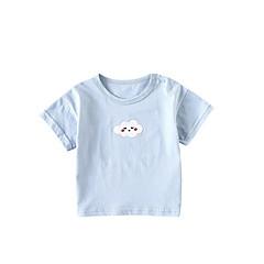 billige Babyoverdele-Baby Pige Aktiv Trykt mønster Kortærmet T-shirt