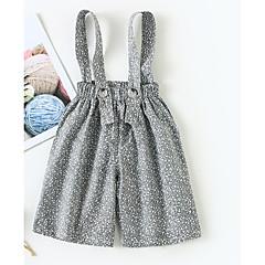 billige Babyunderdele-Baby Pige Aktiv Prikker Trykt mønster Bomuld Overall og jumpsuit