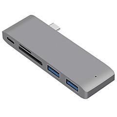 billige USB Hubs & Kontakter-5 USB Hub USB 3.1 Type C USB 3.1 Højhastighed / Med Kortlæser (e) Data Hub