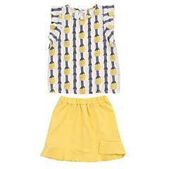 billige Tøjsæt til piger-Børn Pige Ananas Frugt Kortærmet Tøjsæt