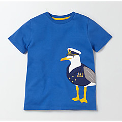 baratos Roupas de Meninos-Infantil / Bébé Para Meninos Estampado Manga Curta Camiseta