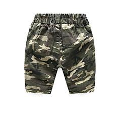 billige Drengebukser-Børn Drenge Aktiv Farveblok Bomuld Shorts