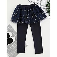 billige Bukser og leggings til piger-Børn Pige Aktiv Ternet Trykt mønster Bukser