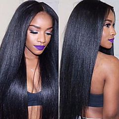 cheap Wigs & Hair Pieces-Remy Human Hair Lace Front Wig Brazilian Hair Straight Wig 150% Density with Baby Hair 100% Virgin Women's Long Human Hair Lace Wig beikashang