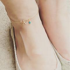 baratos Bijoux de Corps-Fio Único tornozeleira - Estrela do Mar Básico, Fashion Dourado / Prata Para Diário Escola Mulheres
