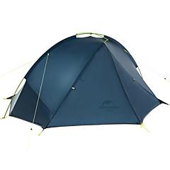 billige Telt og ly-Naturehike 2 personer Turtelt Dobbelt Lagdelt Stang Kuppel Telt Ett Rom  utendørs Regn-sikker  til Camping Nylon 210*235*105 cm