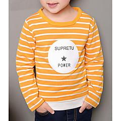 billige Hættetrøjer og sweatshirts til drenge-Børn Drenge Basale Stribet Langærmet Bomuld Hættetrøje og sweatshirt Grøn