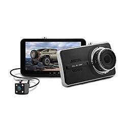 זול DVR לרכב-Blackview 1080p עדשה כפולה / עם מצלמה אחורית רכב DVR 150 מעלות זווית רחבה חיישן CMOS 4 אִינְטשׁ IPS דש קאם עם G-Sensor / מצב חנייה /