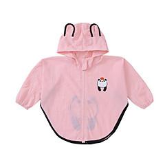 billige Jakker og frakker til piger-Børn Pige Geometrisk Langærmet Jakke og frakke