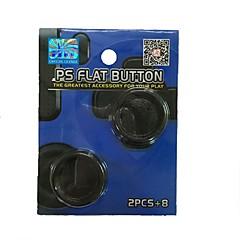 baratos Acessórios para PS4-Controladores de jogo Thumb Stick Grips Para PS4 / PS4 Magro ,  Controladores de jogo Thumb Stick Grips PP+ABS 1 pcs unidade