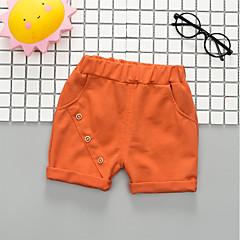 billige Babyunderdele-Baby Unisex Aktiv / Basale Ensfarvet Bomuld Bukser Orange