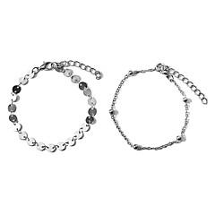 baratos Bijoux de Corps-Longas tornozeleira - Doce, Fashion Dourado / Prata Para Para Noite / Aniversário / Mulheres