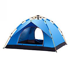billige Telt og ly-DesertFox® 4 personer Turtelt Med enkelt lag Automatisk Kuppel Telt  utendørs Regn-sikker 1500-2000 mm  til Camping / Vandring / Grotte Udforskning Oxfordtøy 200*200*130 cm
