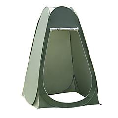 billige Telt og ly-1 person Dusj Telt Utendørs Fukt-sikker, Fort Tørring, Pusteevne Med enkelt lag Pop-up Kuppel camping Tent 2000-3000 mm til Camping Reise Utendørs PU Leather 120*120*190 cm