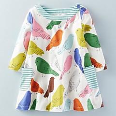 baratos Roupas de Meninas-Bébé Para Meninas Arco-Íris Manga Longa Vestido