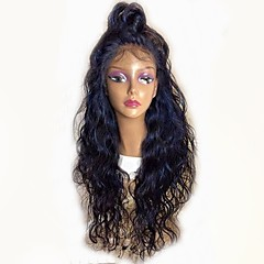 cheap Wigs & Hair Pieces-Remy Human Hair Full Lace Wig Brazilian Hair Natural Wave Black Wig Layered Haircut 130% Density with Baby Hair Natural Hairline Black Women's Long Human Hair Lace Wig Aili Young Hair