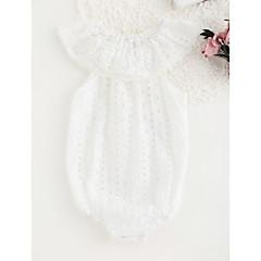 billige Babytøj-Baby Pige Vintage Ensfarvet Uden ærmer Bomuld / Bambus Fiber Bodysuit