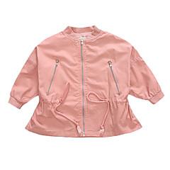 billige Jakker og frakker til piger-Børn Pige Ensfarvet / Geometrisk Langærmet Jakke og frakke