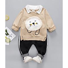 billige Sett med babyklær-Baby Pige Geometrisk Langærmet Tøjsæt