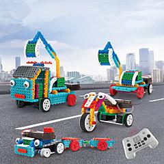 billige Fjernstyrte biler-Radiostyrt Bil 4 in 1 Remote Control 2.4G Motorsykkel / gravemaskin 1:18 KM / H