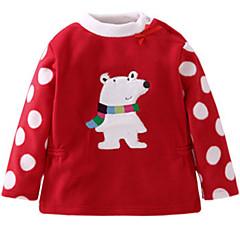 billige Hættetrøjer og sweatshirts til babyer-Baby Pige Prikker / Trykt mønster Langærmet Hættetrøje og sweatshirt