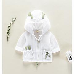billige Overtøj til babyer-Baby Unisex Basale Farveblok Langærmet Bomuld Jakke og frakke