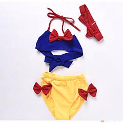 billige Badetøj til piger-Børn Pige Ensfarvet / Farveblok Badetøj