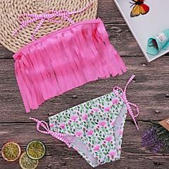 billige Badetøj til piger-Børn Pige Ensfarvet / Prikker Badetøj