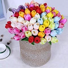 billige Kunstige blomster-Kunstige blomster 10 Gren Klassisk Singel Fest / aften Bryllupsblomster Tulipaner Evige blomster Bordblomst