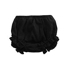 billige Babyunderdele-Baby Pige Basale Ensfarvet Polyester Shorts Lyserød