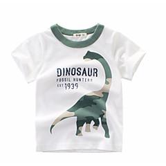 tanie Odzież dla chłopców-Dzieci Dla chłopców Podstawowy Nadruk Nadruk Krótki rękaw Bawełna T-shirt