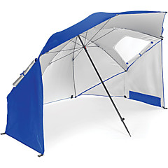 billige Telt og ly-Paraply / parasoll / Skjermtelt / Strandtelt Enkelt camping Tent Utendørs UV-bestandig, SPF35 til Strand / Camping / Vandring / Grotte Udforskning 1500-2000 mm Oxfordtøy 240*240*200 cm