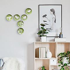 tanie Dekoracje ścienne-Ptaszek / Kwiat Dekoracja ścienna Specjalny materiał Zwierzęta / Pasterski Wall Art, Ozdoby ścienne Dekoracja