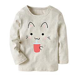 billige Hættetrøjer og sweatshirts til piger-Baby Pige Basale Ensfarvet Langærmet Hættetrøje og sweatshirt