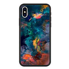 billige Telefoner og nettbrett-Etui Til Apple iPhone X / iPhone 8 Plus Mønster Bakdeksel Landskap Hard Akryl til iPhone X / iPhone 8 Plus / iPhone 8