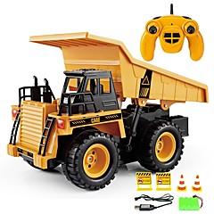 baratos Carros Controle Remoto-Carro com CR 6 Canais 2.4G Veiculo de Construção 1:20 Electrico Escovado KM / H