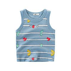 baratos Roupas de Meninos-Infantil Para Meninos Listrado Sem Manga Camiseta