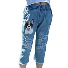 baratos Roupas de Meninas-Infantil Para Meninas Sólido / Estampado Shorts